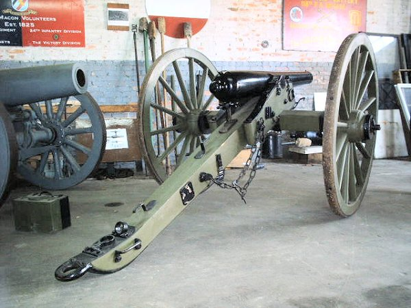 3inch 3in Ordnance piece rear view (Civil War)