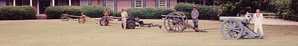 "15cm. s.F.H. ""93, 3 inch Ordnance Piece, US 57mm, Japanese 47mm, French 25mm, and last the Woodruff Gun"