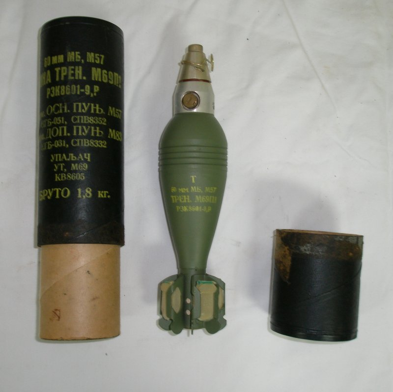 60mm M57 Mortar Round De-Militarized by EOD