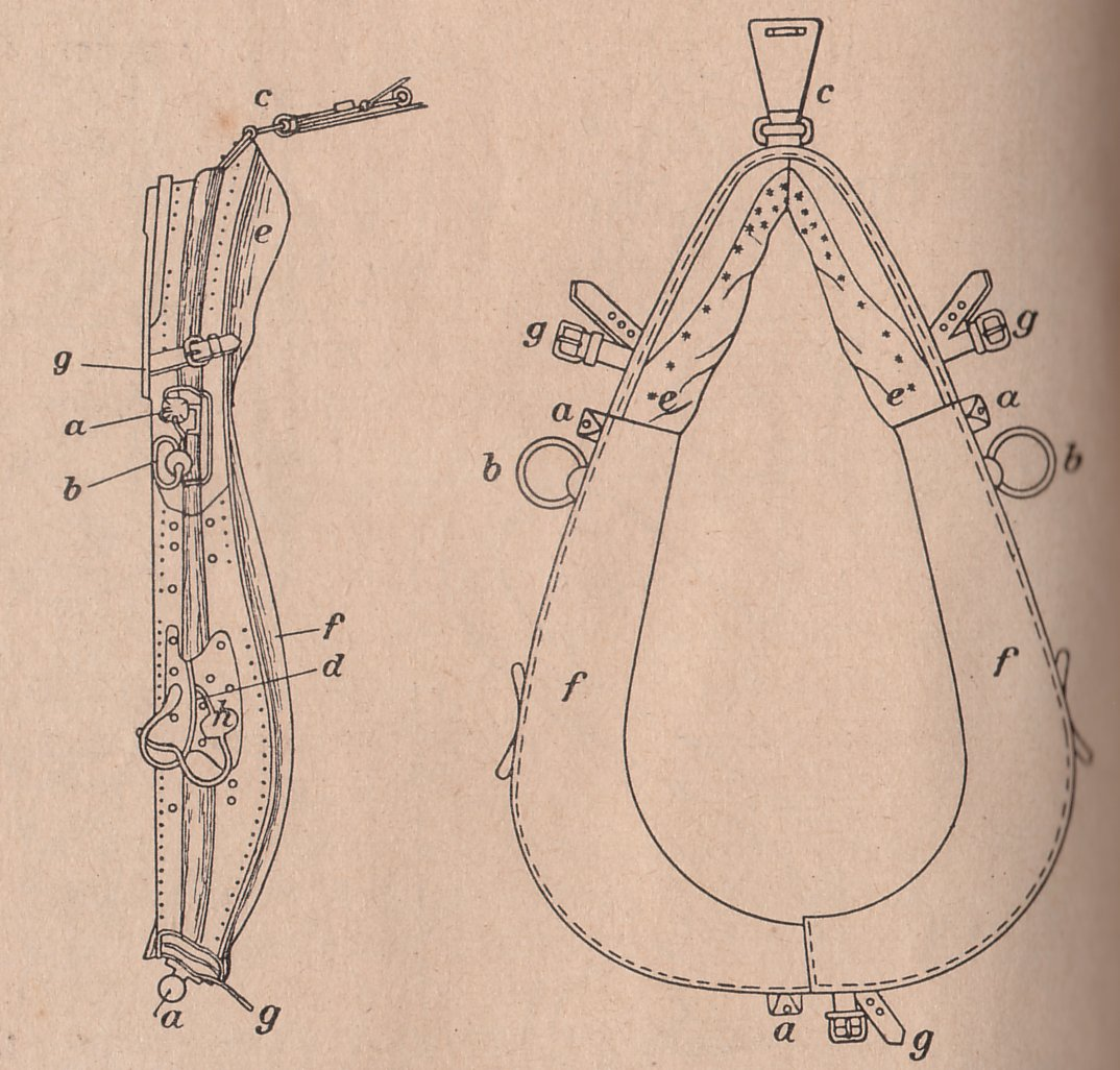 Drawing of the Bavarian Horse Collar