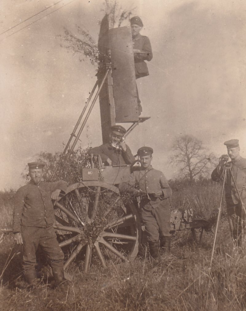 Orginal Photograph of a German Field Artillery Observer Team