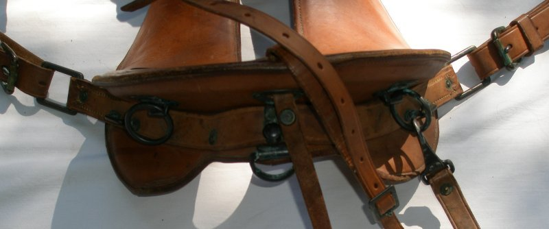 Rear D-Ring for the Breeching strap for the M1916 Artillery Harness