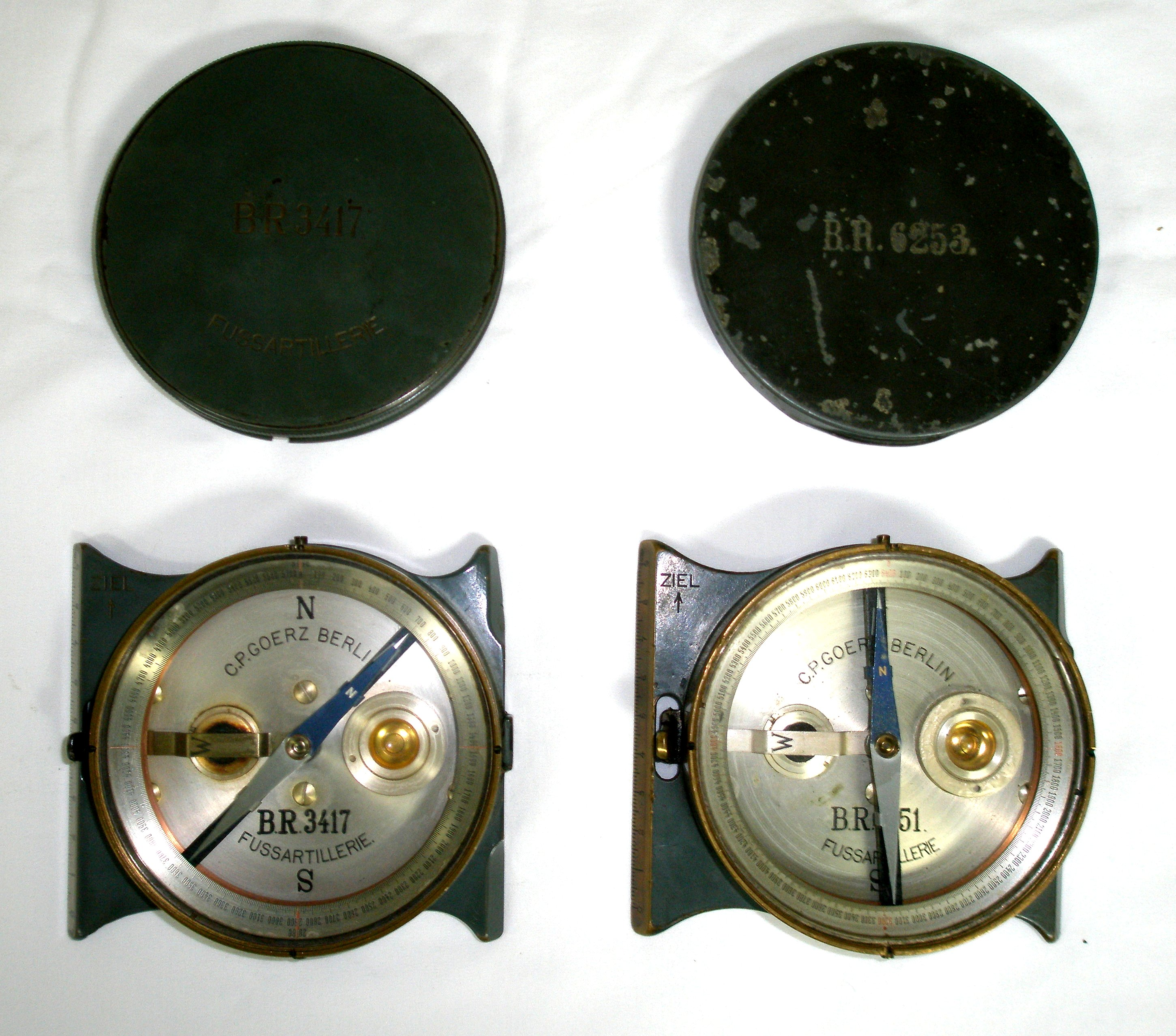 5760 & 6400 scale compass for aiming circle
