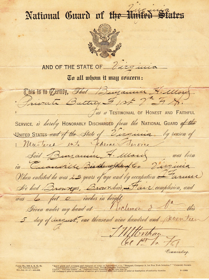 Virginia National Guard Document